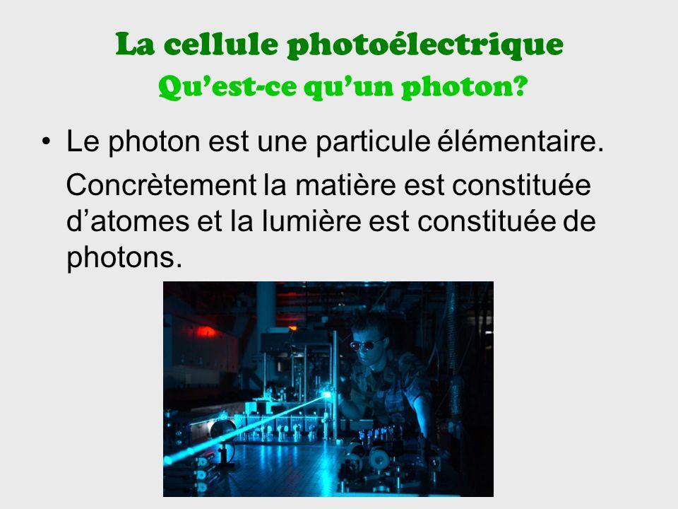La cellule photoélectrique Qu'est-ce qu'un photon