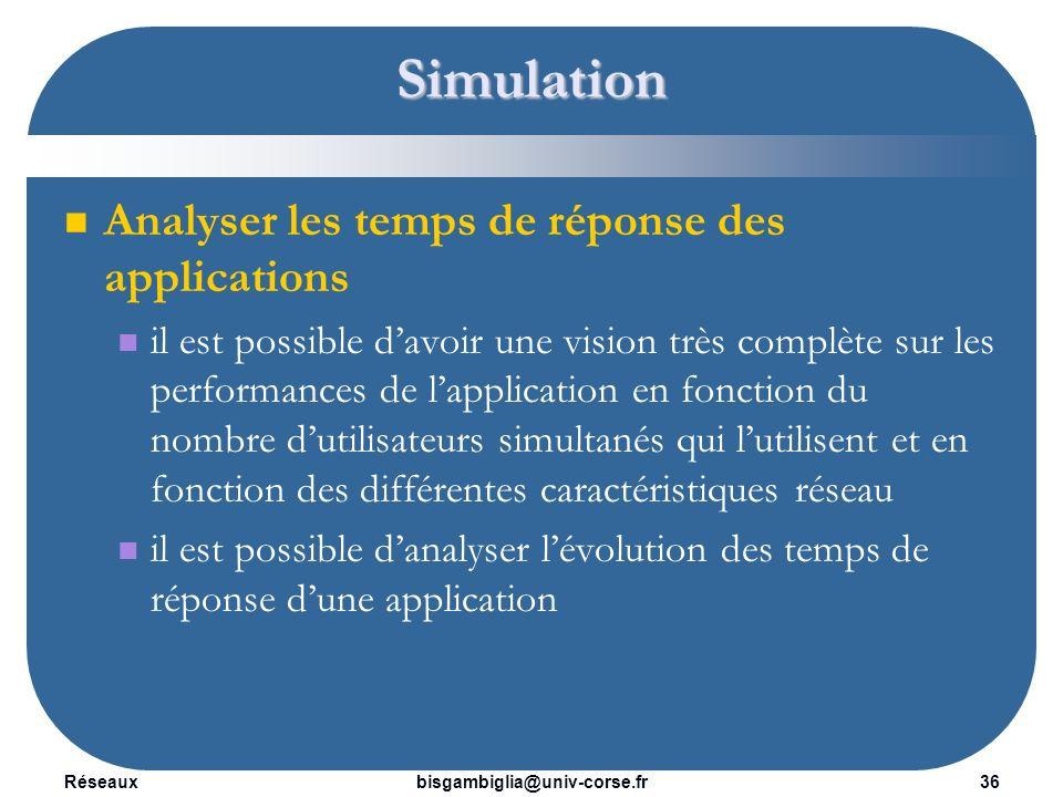 Simulation Analyser les temps de réponse des applications