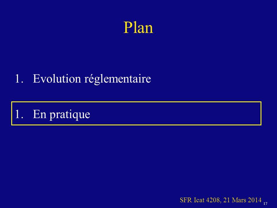 Plan Evolution réglementaire En pratique