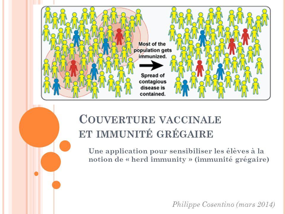 Couverture vaccinale et immunité grégaire