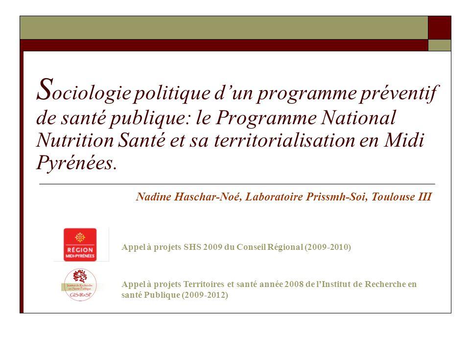 Appel à projets SHS 2009 du Conseil Régional (2009-2010)