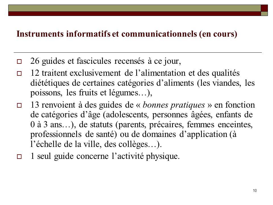 Instruments informatifs et communicationnels (en cours)