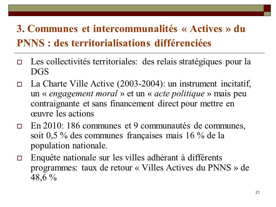 3. Communes et intercommunalités « Actives » du PNNS : des territorialisations différenciées