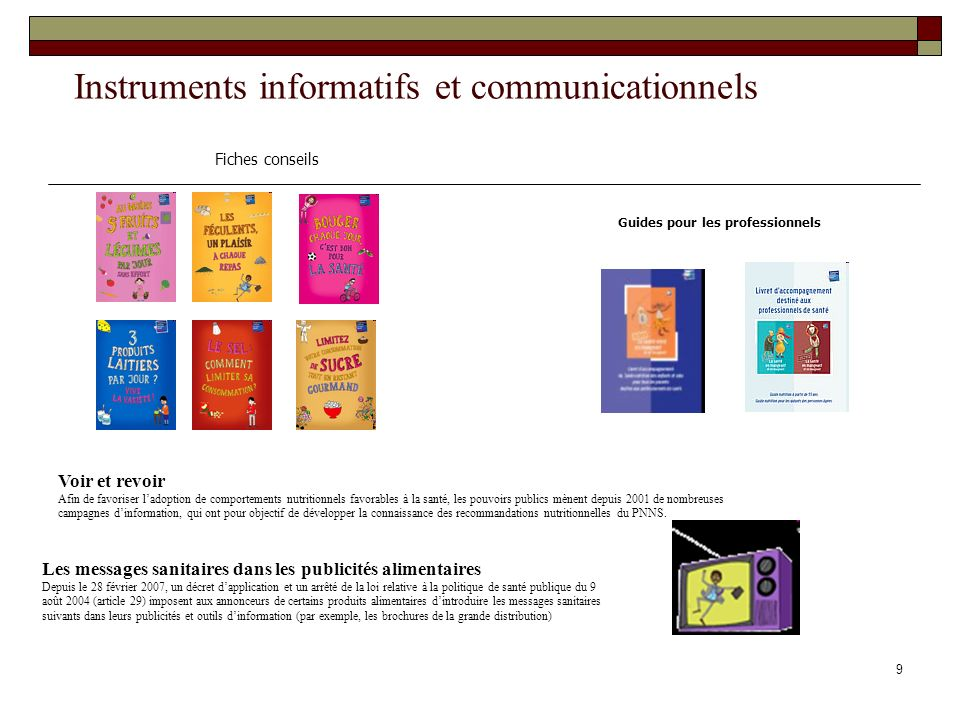 Instruments informatifs et communicationnels