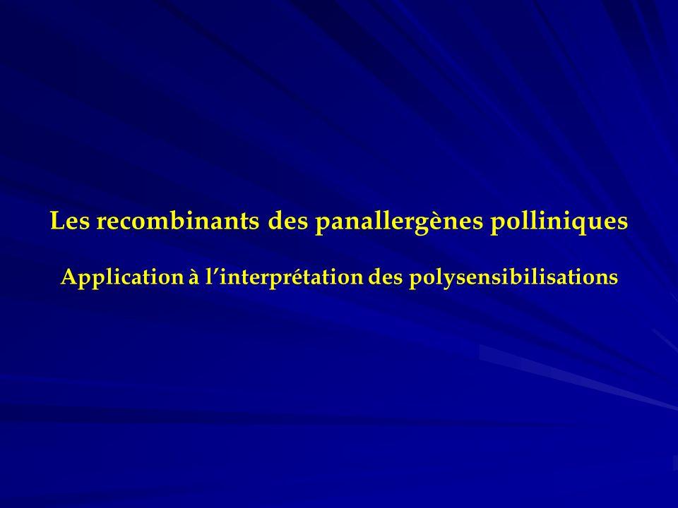 Les recombinants des panallergènes polliniques Application à l'interprétation des polysensibilisations