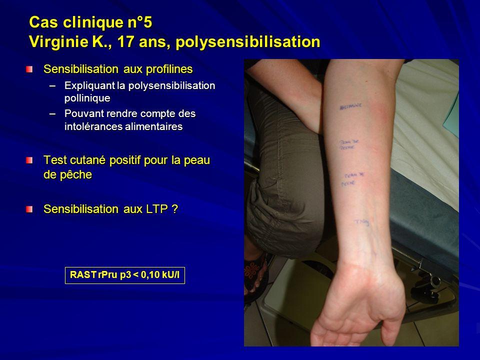 Cas clinique n°5 Virginie K., 17 ans, polysensibilisation