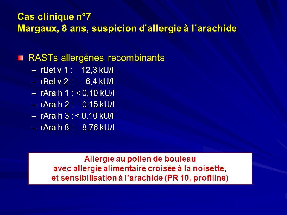 Cas clinique n°7 Margaux, 8 ans, suspicion d'allergie à l'arachide