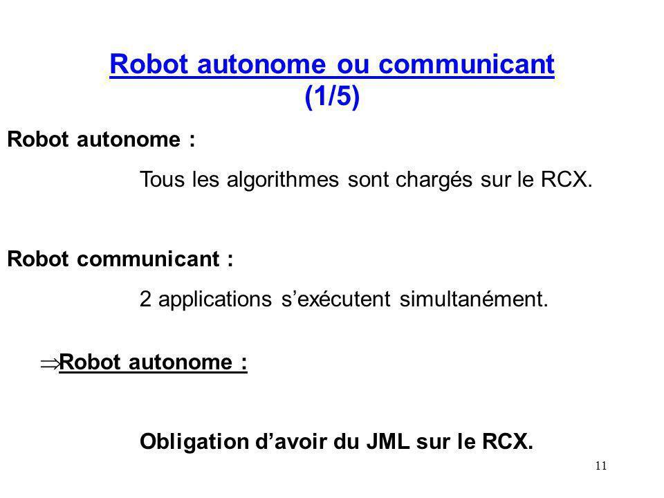 Robot autonome ou communicant