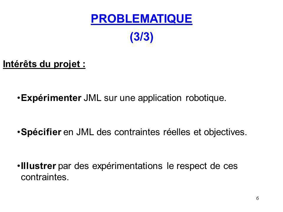 PROBLEMATIQUE (3/3) Intérêts du projet :