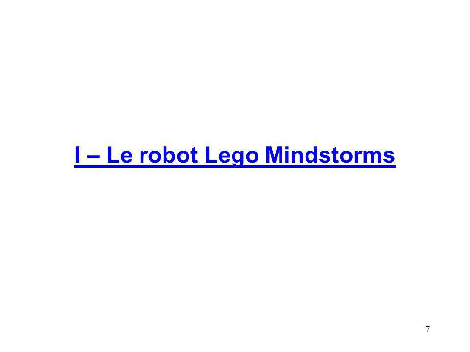 I – Le robot Lego Mindstorms