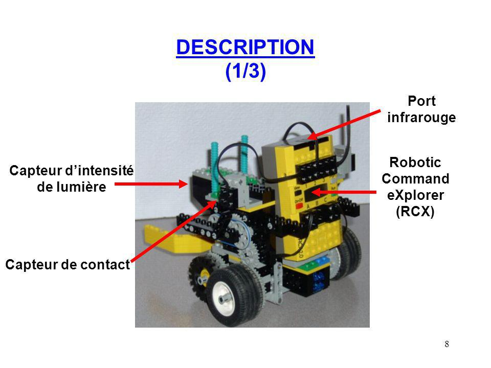 Robotic Command eXplorer (RCX) Capteur d'intensité de lumière