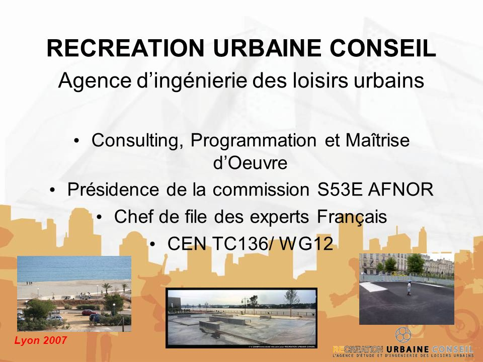 RECREATION URBAINE CONSEIL