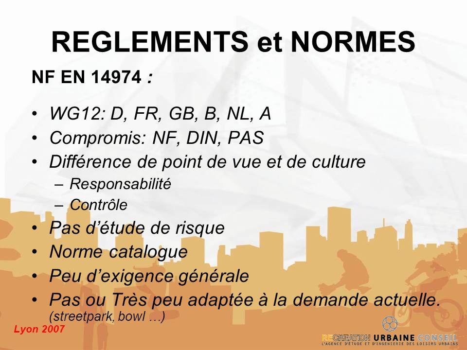 REGLEMENTS et NORMES NF EN 14974 : WG12: D, FR, GB, B, NL, A
