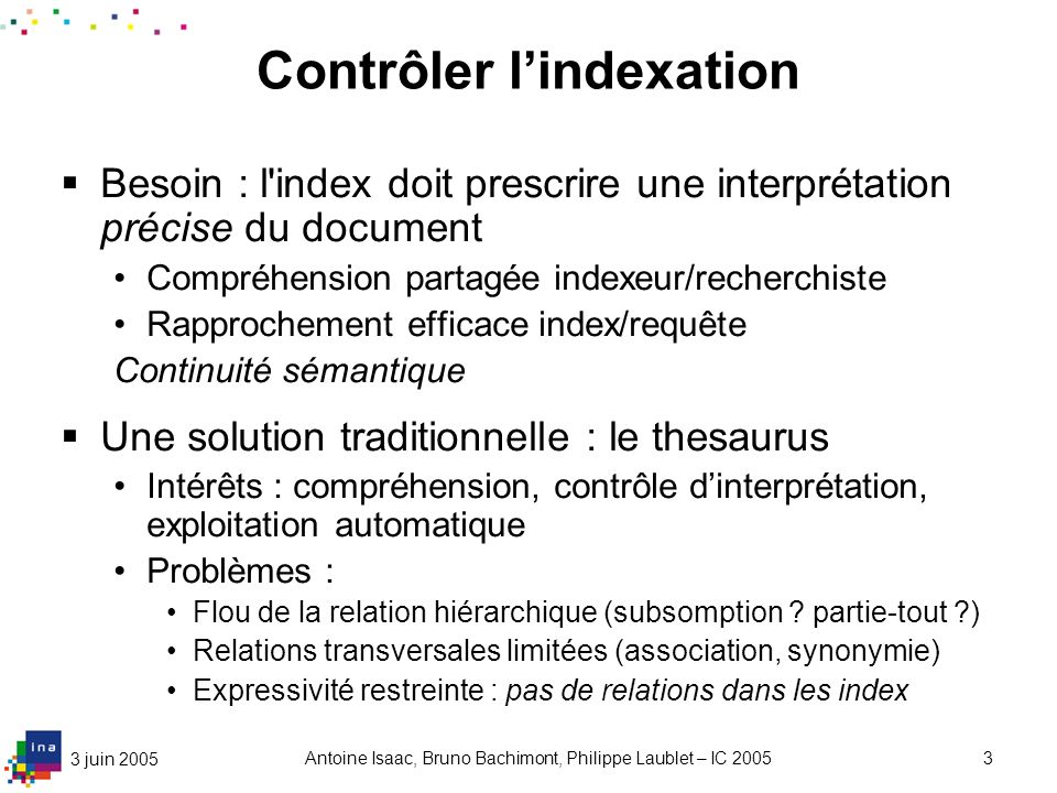 Structurer l'indexation