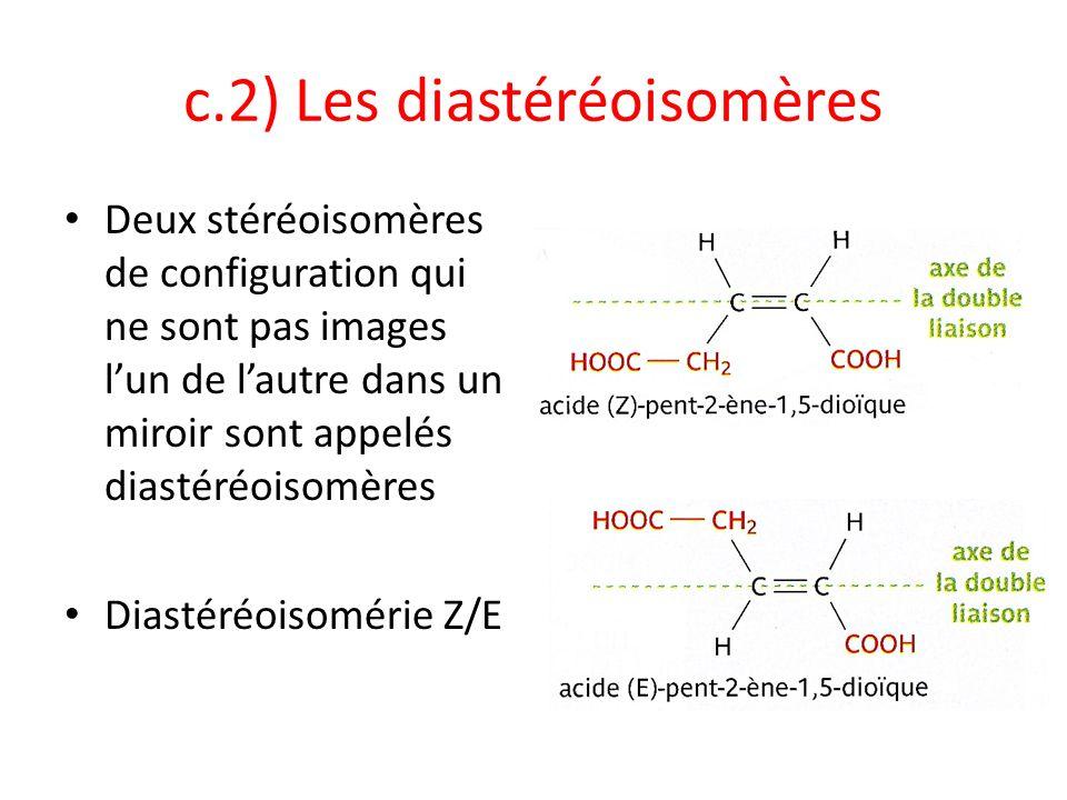 c.2) Les diastéréoisomères