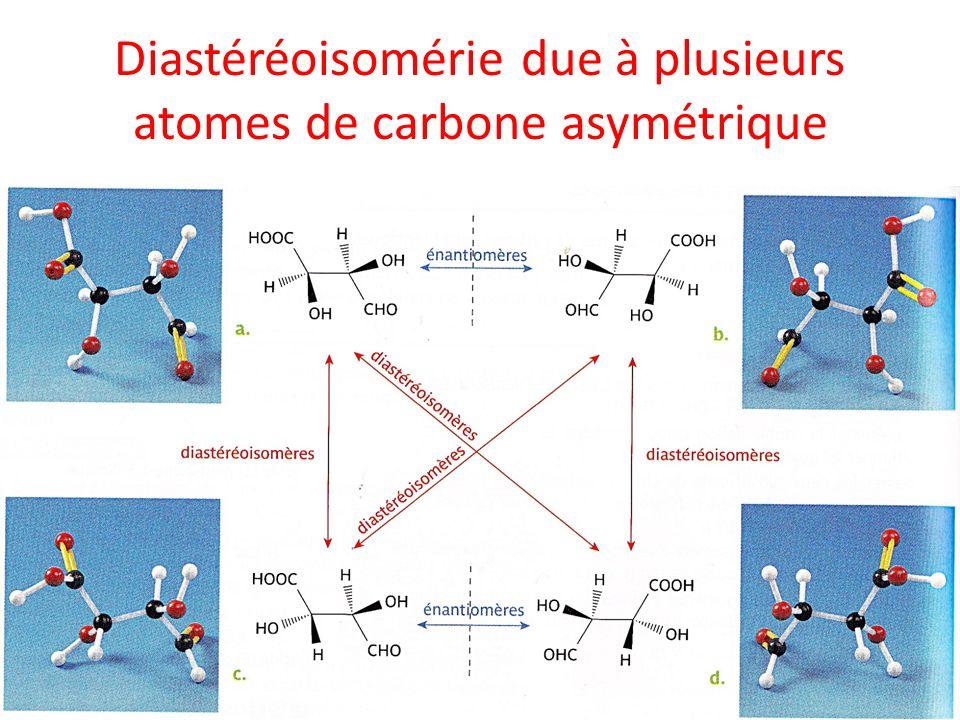 Diastéréoisomérie due à plusieurs atomes de carbone asymétrique