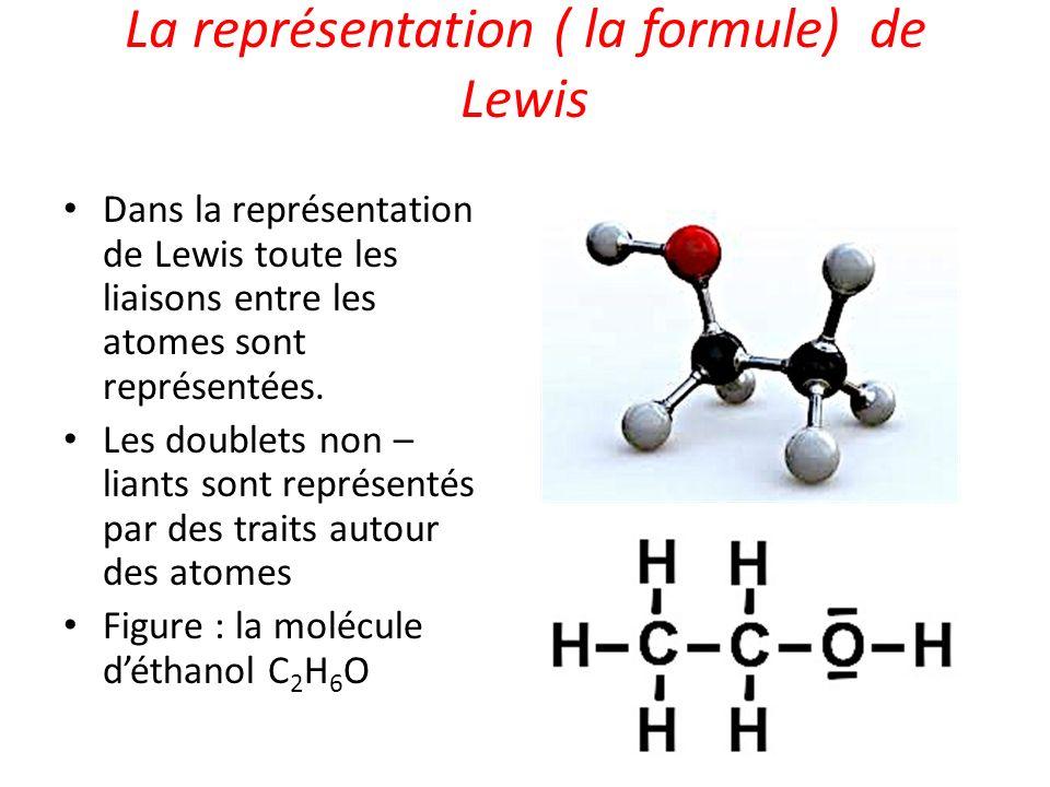La représentation ( la formule) de Lewis