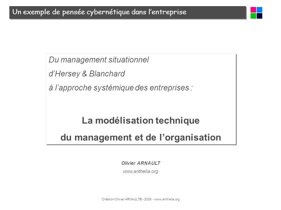 La modélisation technique du management et de l'organisation