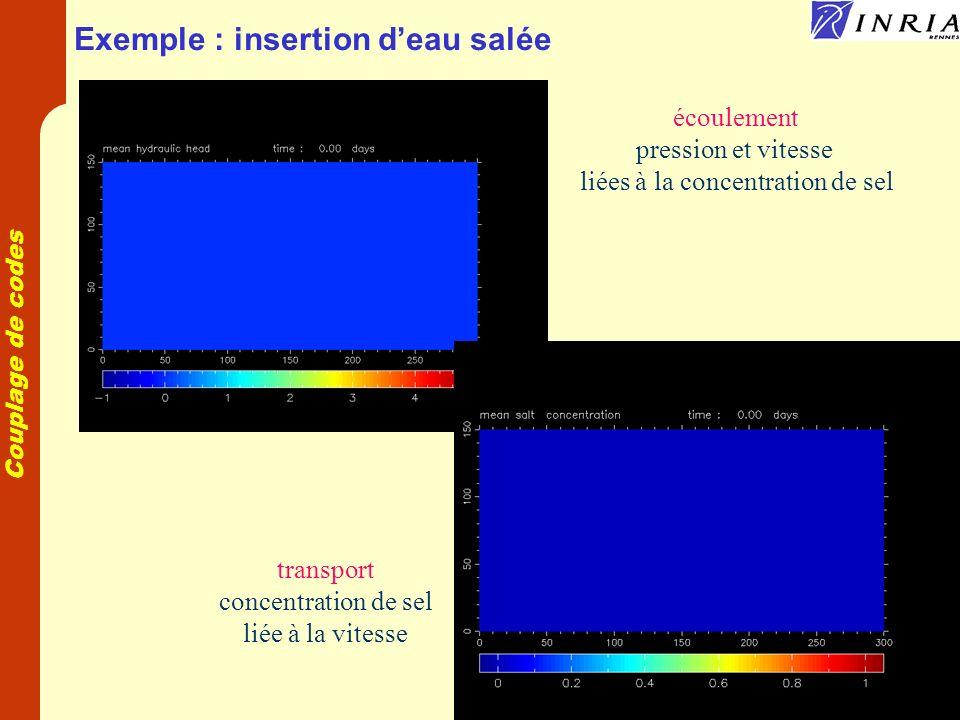Exemple : insertion d'eau salée