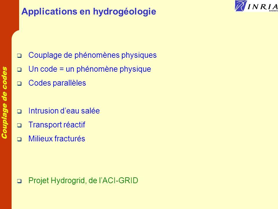Applications en hydrogéologie