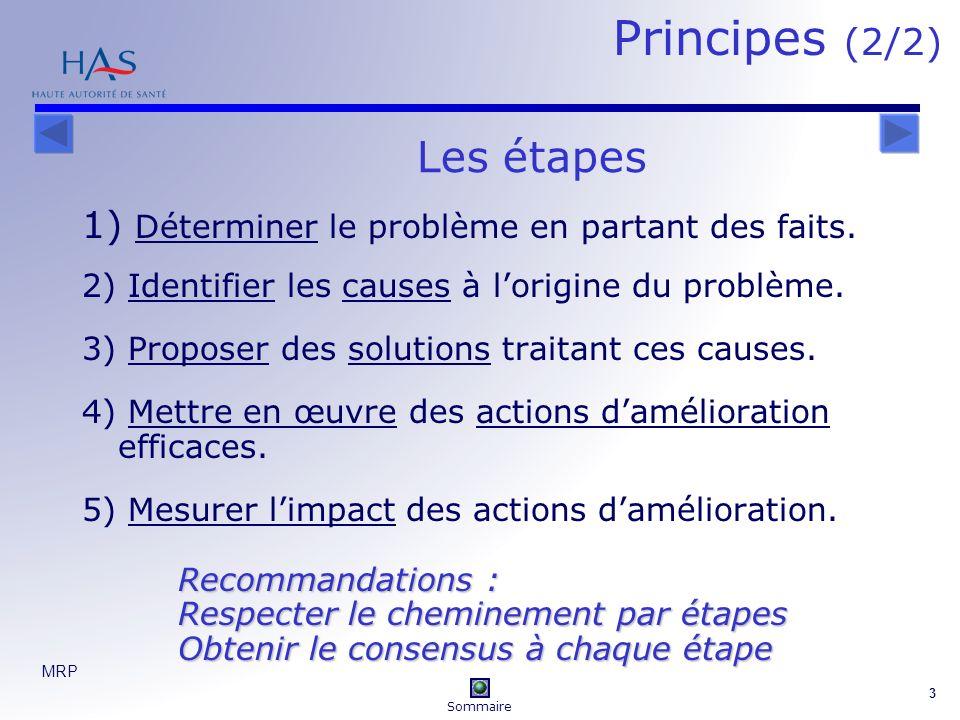 Principes (2/2) Les étapes