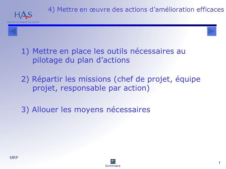 4) Mettre en œuvre des actions d'amélioration efficaces