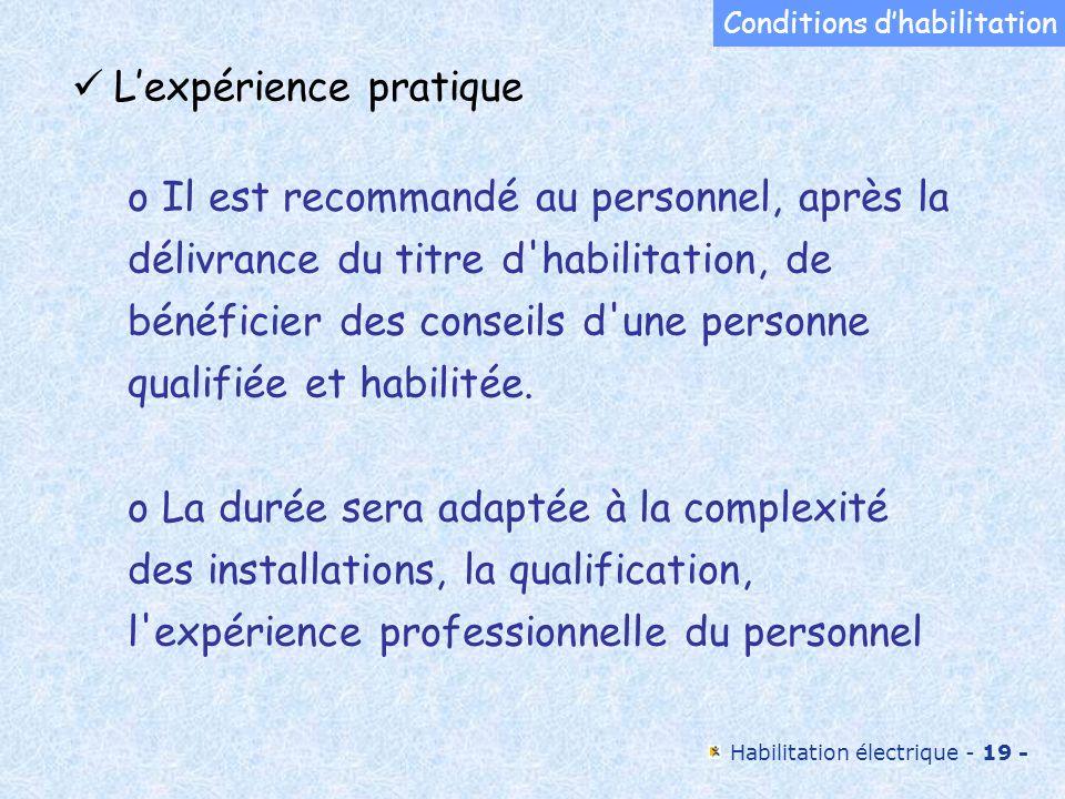 L'expérience pratique