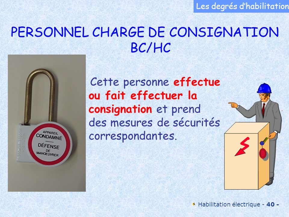 PERSONNEL CHARGE DE CONSIGNATION BC/HC