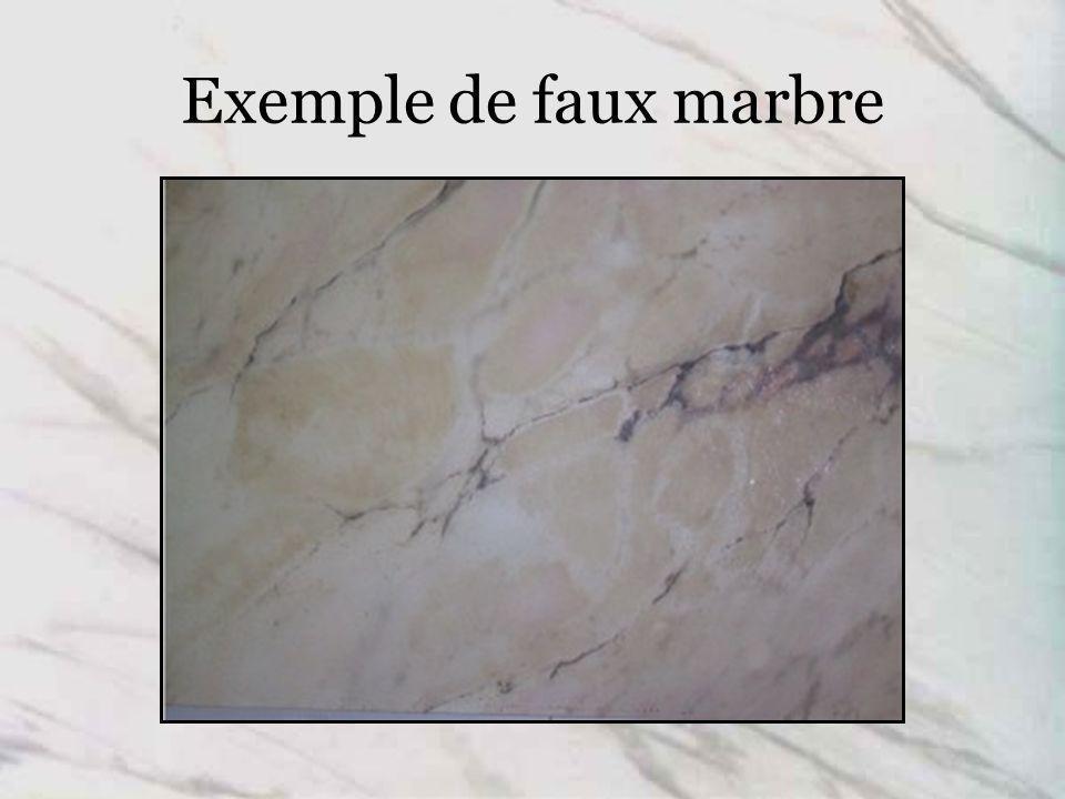 Exemple de faux marbre