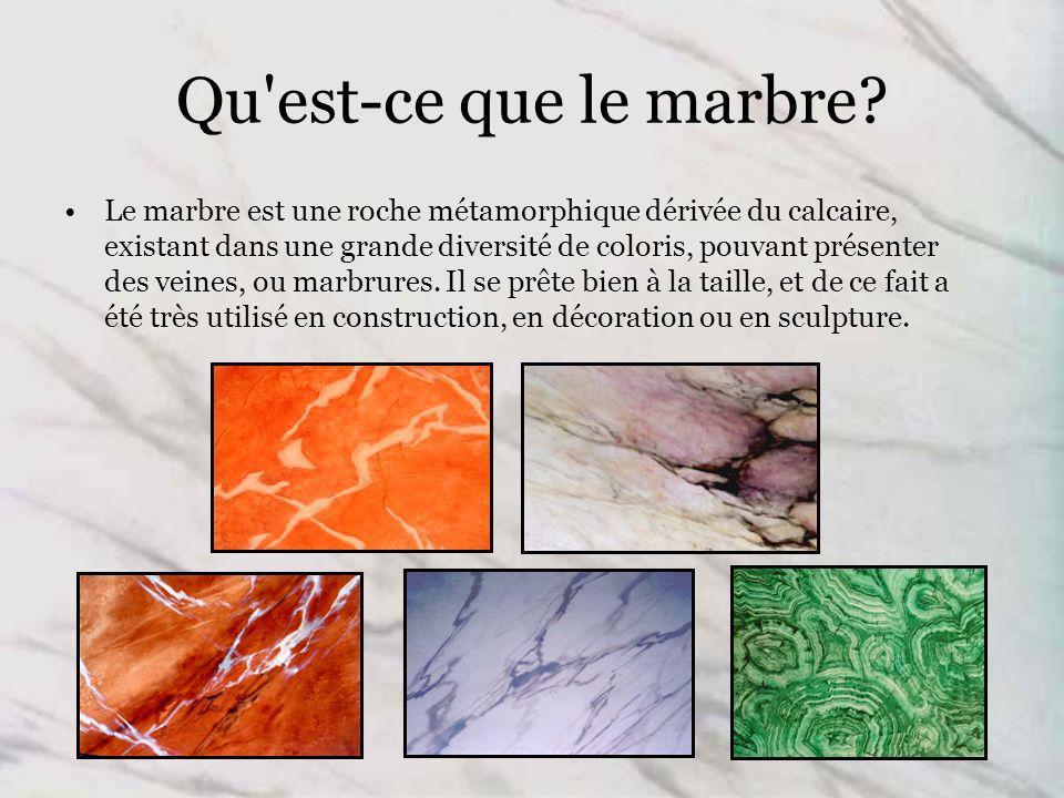 Qu est-ce que le marbre