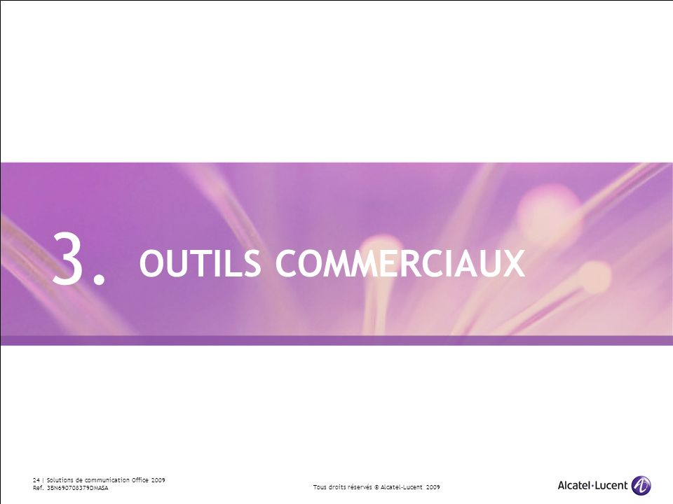 3. OUTILS COMMERCIAUX Divider Section Break Pages
