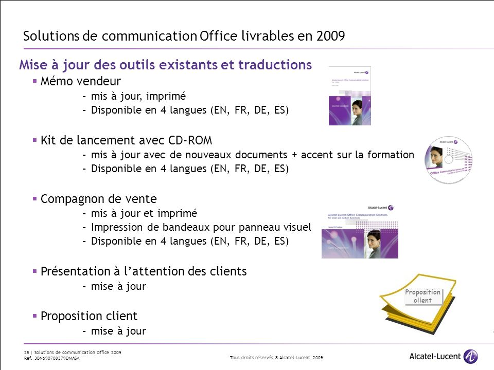 Solutions de communication Office livrables en 2009