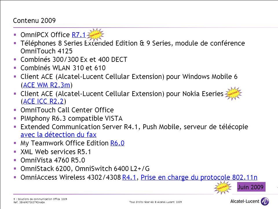 Client ACE (Alcatel-Lucent Cellular Extension) pour Windows Mobile 6
