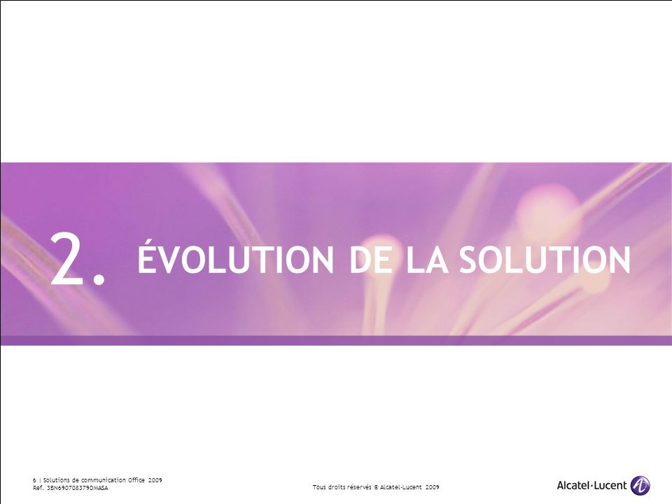 2. ÉVOLUTION DE LA SOLUTION Divider Section Break Pages