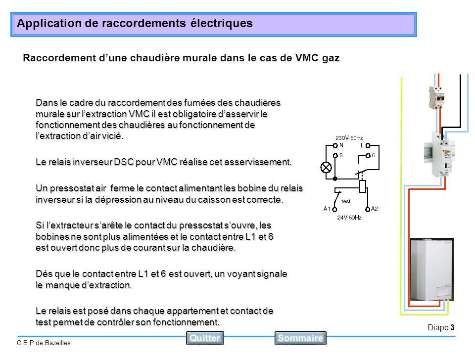 Raccordement d'une chaudière murale dans le cas de VMC gaz
