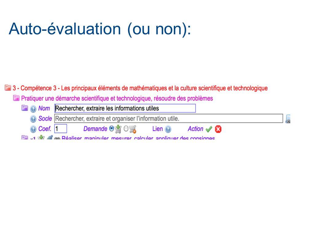 Auto-évaluation (ou non):