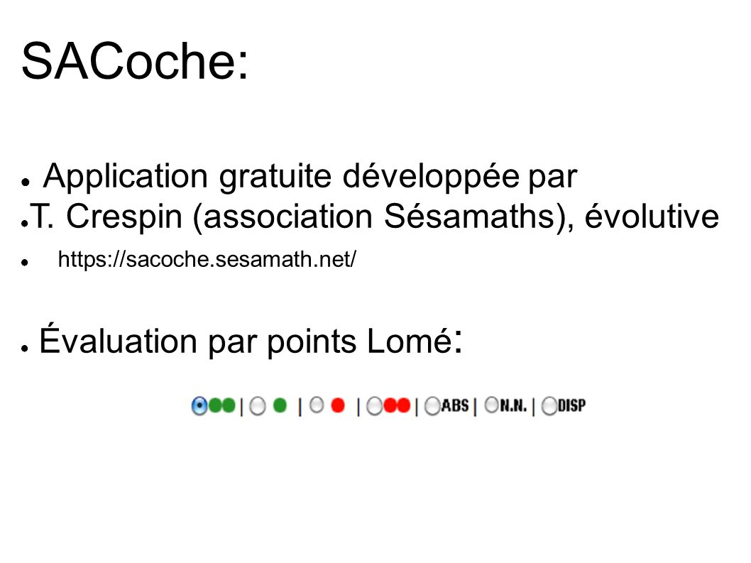 SACoche: Application gratuite développée par