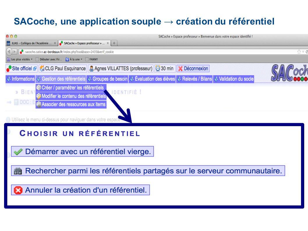 SACoche, une application souple → création du référentiel