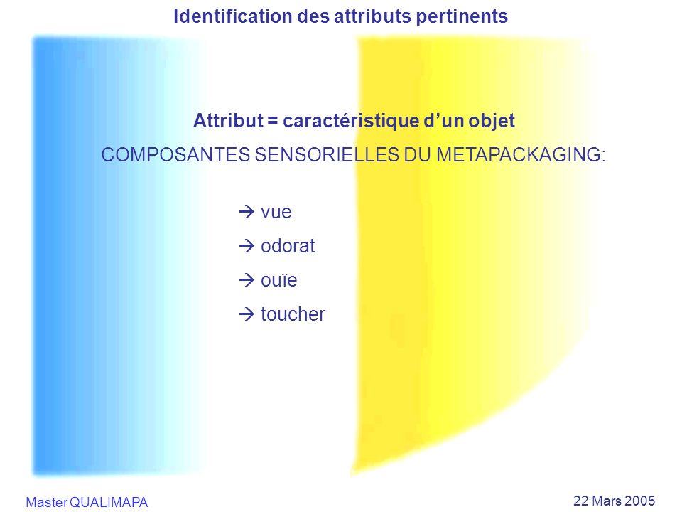 Identification des attributs pertinents