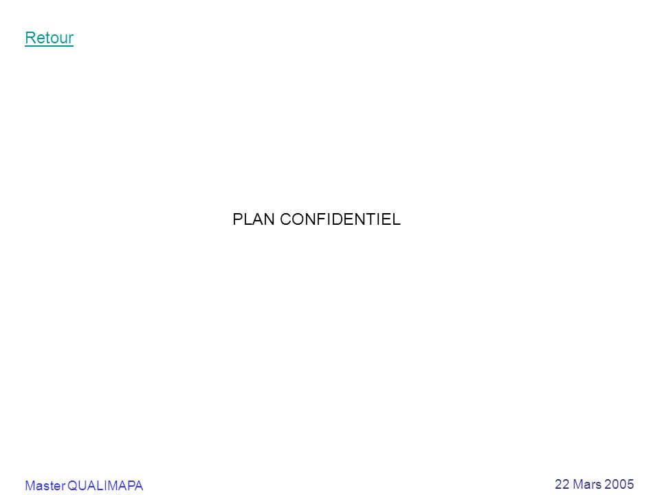 Retour PLAN CONFIDENTIEL
