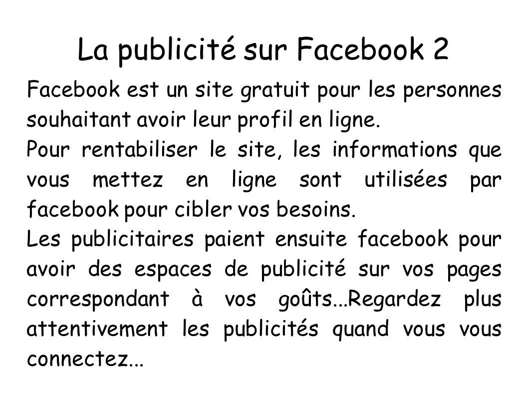La publicité sur Facebook 2