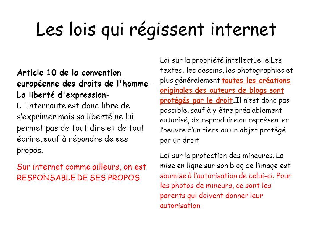 Les lois qui régissent internet
