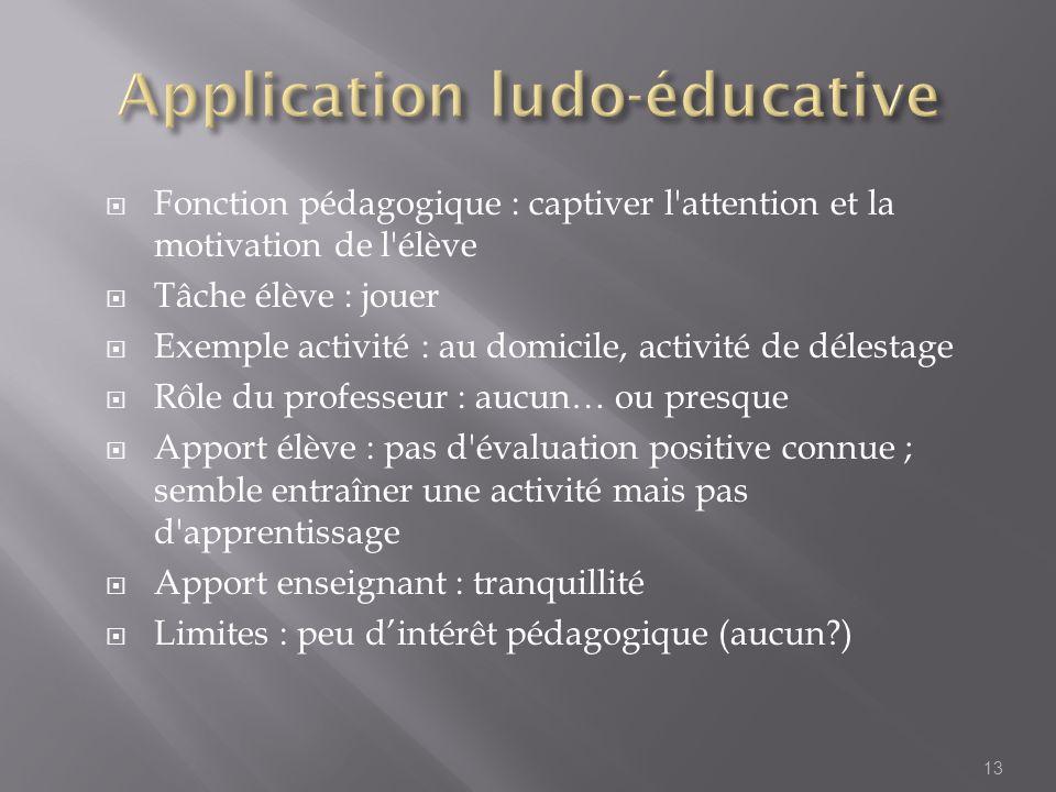 Application ludo-éducative