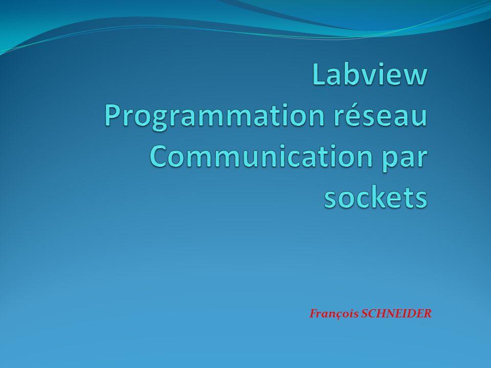 Labview Programmation réseau Communication par sockets