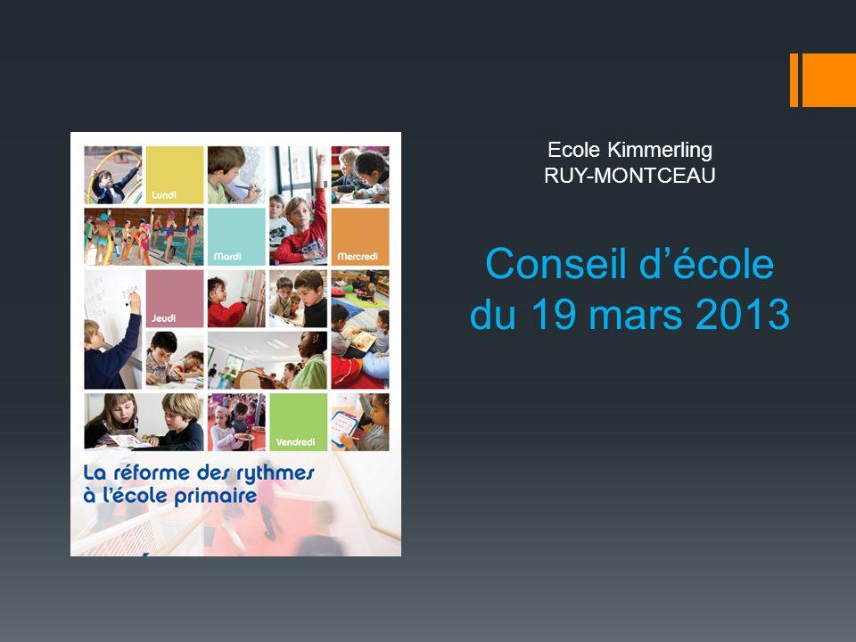 Conseil d'école du 19 mars 2013