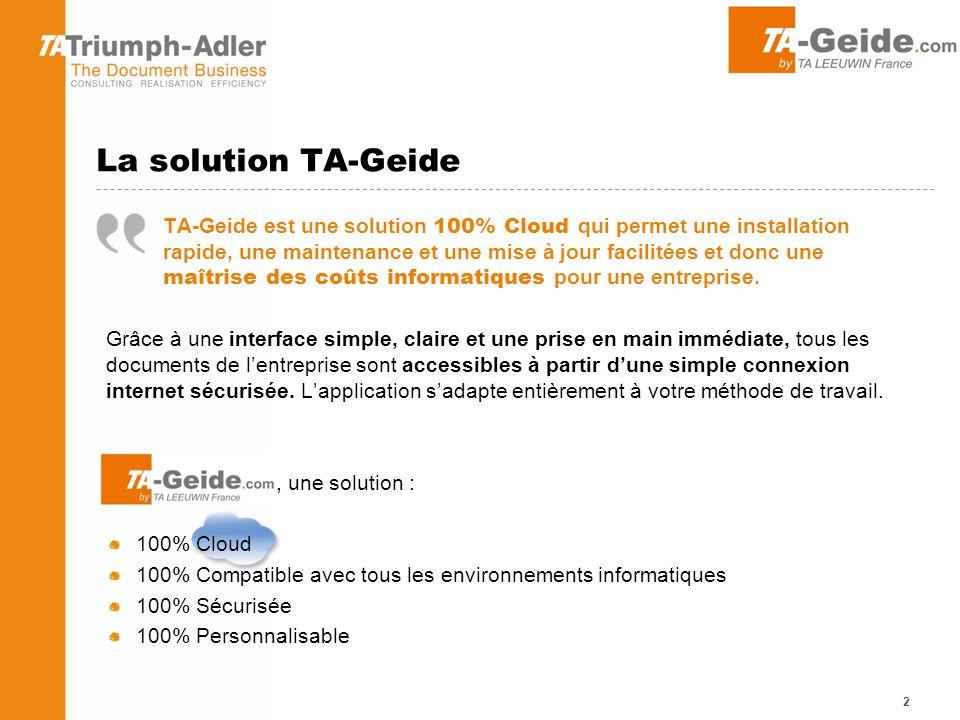La solution TA-Geide
