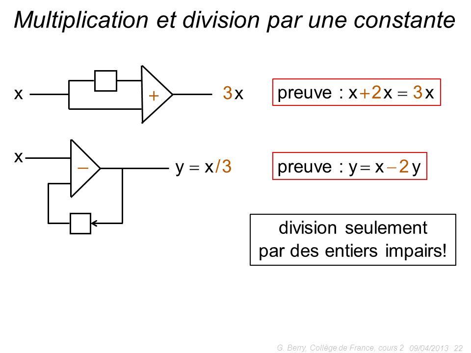 Multiplication et division par une constante