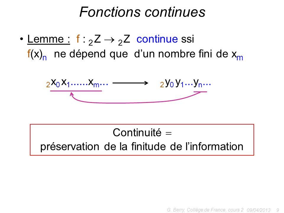 préservation de la finitude de l'information