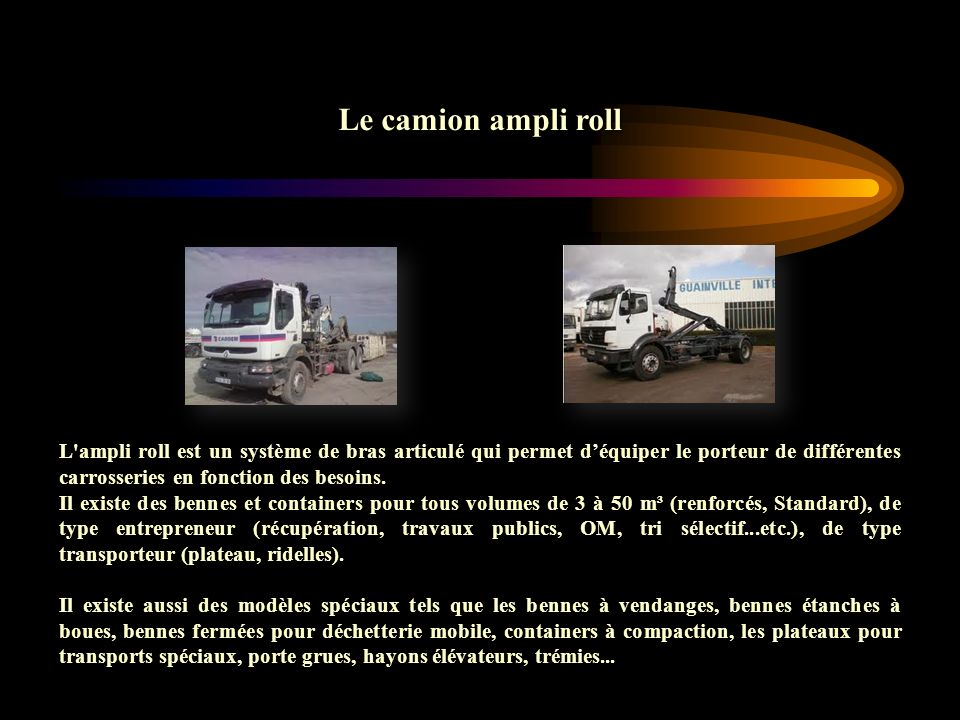 Le camion ampli roll