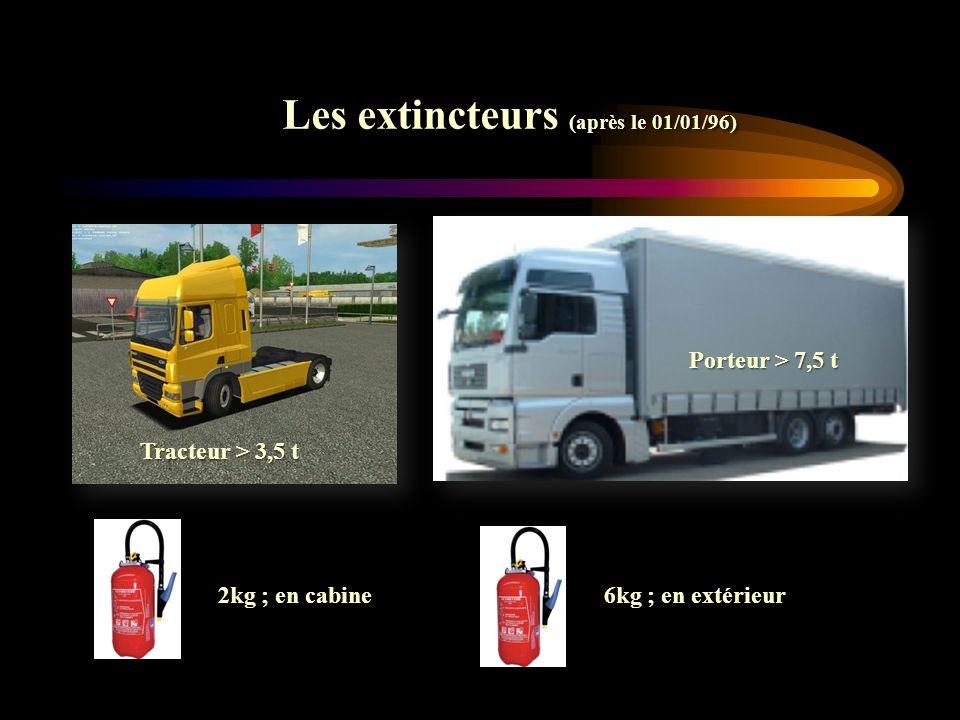 Les extincteurs (après le 01/01/96)